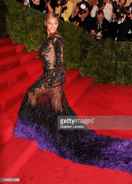 Actress Beyonce Knowles attends the 'Schiaparelli And Prada Impossible Conversations' Costume Institute Gala at the Metropolitan Museum of Art on May...