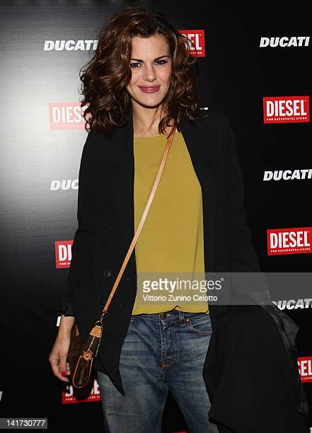 Actress Bianca Guaccero attends the 'Diesel Together With Ducati' cocktail party on March 22 2012 in Rome Italy