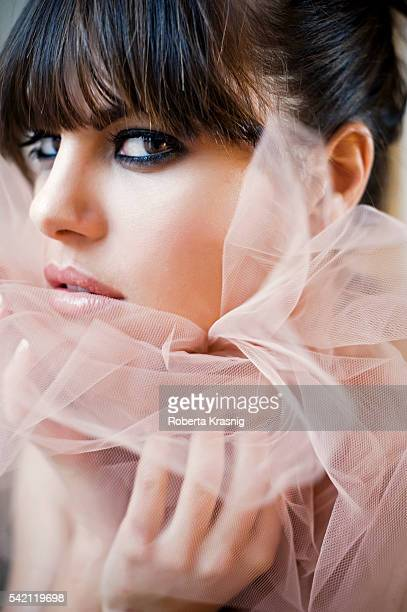 Actress Bianca Guaccero is photographed for Self Assignment on October 13 2010 in Rome Italy