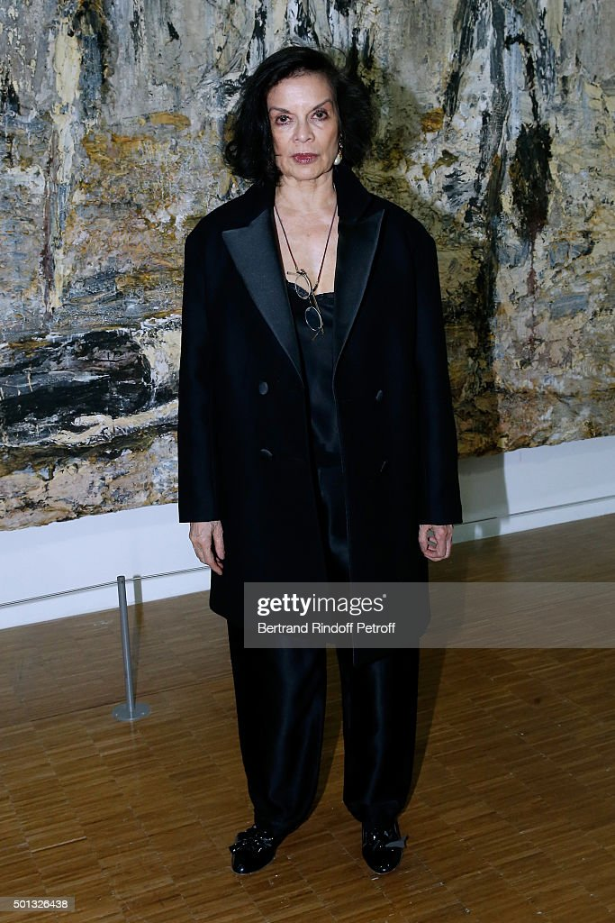 Actress <a gi-track='captionPersonalityLinkClicked' href=/galleries/search?phrase=Bianca+Jagger&family=editorial&specificpeople=216047 ng-click='$event.stopPropagation()'>Bianca Jagger</a> attends the Anselm Kiefer's Exhibition : Press Preview, held at Centre Pompidou on December 14, 2015 in Paris, France.