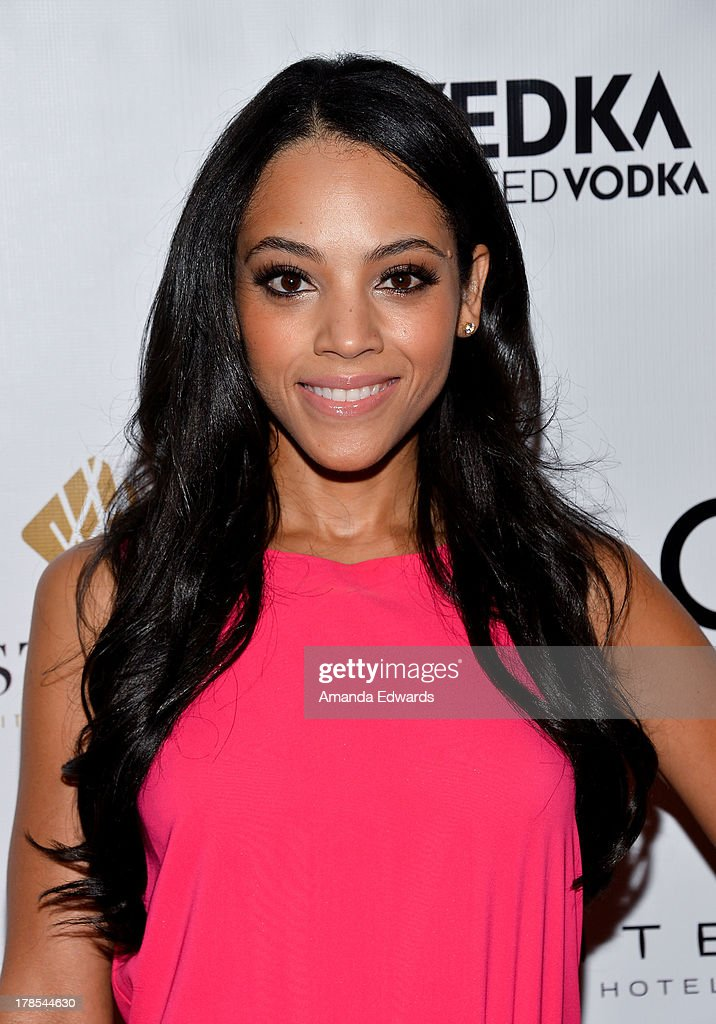 Actress Bianca Lawson arrives at the Genlux Magazine release party with Erika Christensen at Sofitel Hotel on August 29, 2013 in Los Angeles, California.