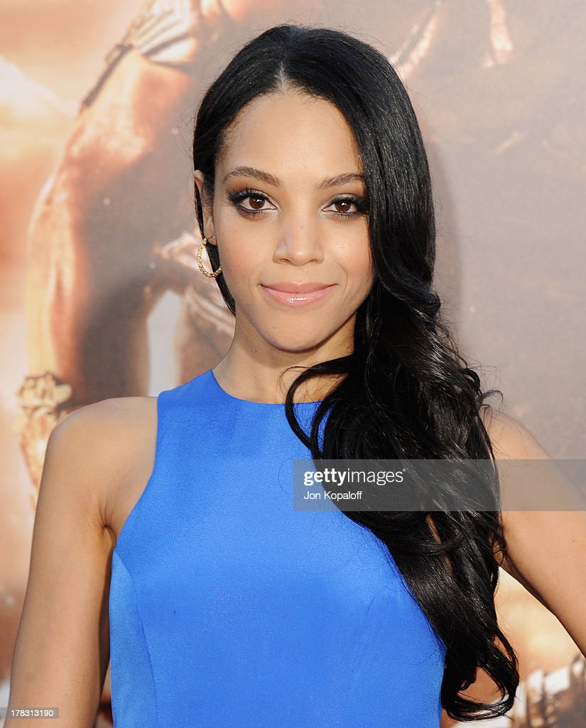 Actress <a gi-track='captionPersonalityLinkClicked' href=/galleries/search?phrase=Bianca+Lawson&family=editorial&specificpeople=3141410 ng-click='$event.stopPropagation()'>Bianca Lawson</a> arrives at the Los Angeles Premiere 'Riddick' at the Mann Village Theater on August 28, 2013 in Westwood, California.