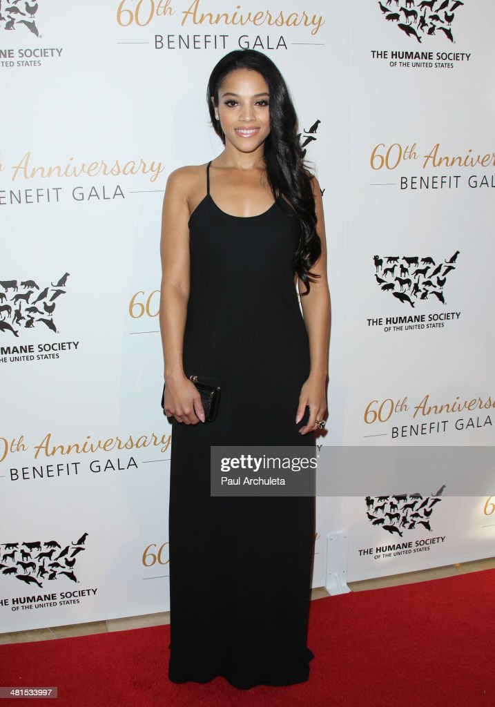 Actress <a gi-track='captionPersonalityLinkClicked' href=/galleries/search?phrase=Bianca+Lawson&family=editorial&specificpeople=3141410 ng-click='$event.stopPropagation()'>Bianca Lawson</a> attends the Humane Society Of The United States 60th Anniversary Benefit Gala at The Beverly Hilton Hotel on March 29, 2014 in Beverly Hills, California.