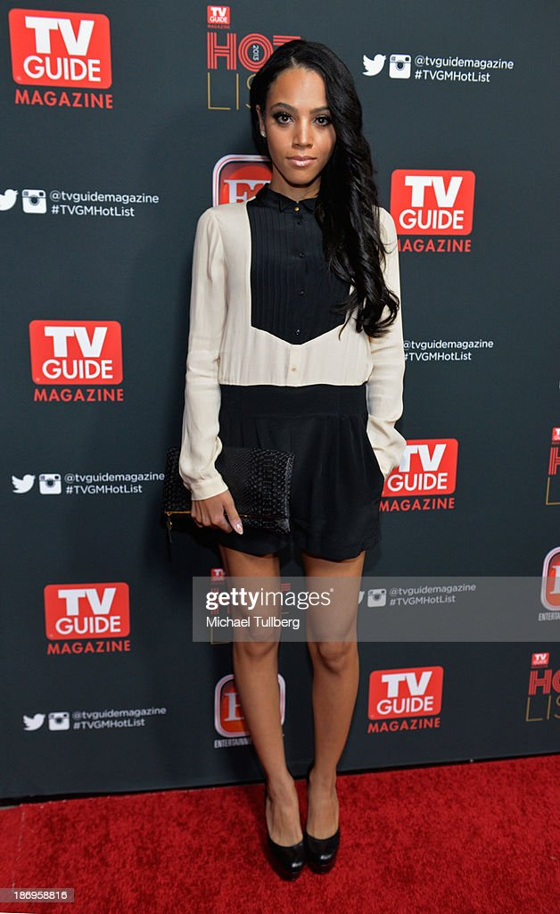 Actress <a gi-track='captionPersonalityLinkClicked' href=/galleries/search?phrase=Bianca+Lawson&family=editorial&specificpeople=3141410 ng-click='$event.stopPropagation()'>Bianca Lawson</a> attends TV Guide Magazine's Annual Hot List Party at The Emerson Theatre on November 4, 2013 in Hollywood, California.