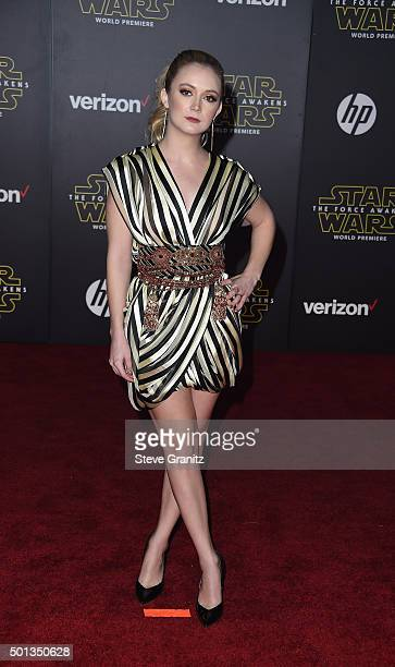 Actress Billie Lourd arrives at the premiere of Walt Disney Pictures' and Lucasfilm's 'Star Wars The Force Awakens' at the Dolby Theatre TCL Chinese...