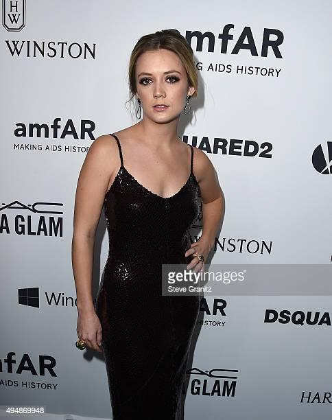 Actress Billie Lourd attends amfAR's Inspiration Gala Los Angeles at Milk Studios on October 29 2015 in Hollywood California
