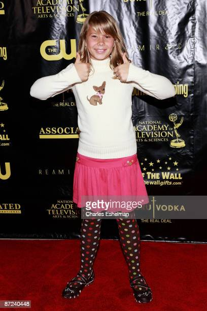 Actress Bindi Irwin attends the 36th annual Daytime Entertainment Emmy Awards nomination party at Hearst Tower on May 14 2009 in New York City