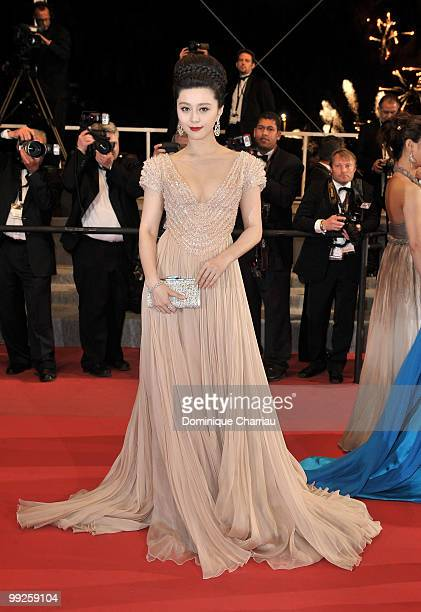 Actress Bingbing Fan attends the Premiere of 'Chongqing Blues' at the Palais des Festivals during the 63rd Annual International Cannes Film Festival...