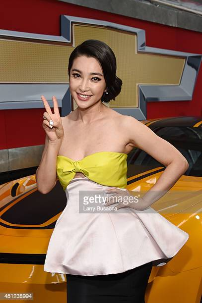 Actress Bingbing Li attends the New York Premiere of 'Transformers Age Of Extinction' at the Ziegfeld Theatre on June 25 2014 in New York City