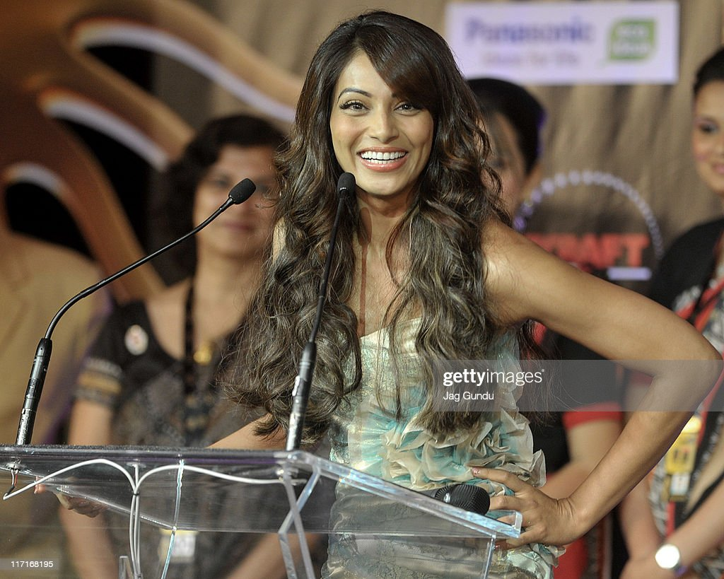 Actress <a gi-track='captionPersonalityLinkClicked' href=/galleries/search?phrase=Bipasha+Basu&family=editorial&specificpeople=695956 ng-click='$event.stopPropagation()'>Bipasha Basu</a> at the official launch of the 2011 IIFA press conference held at the Royal York Hotel on June 23, 2011 in Toronto, Canada.