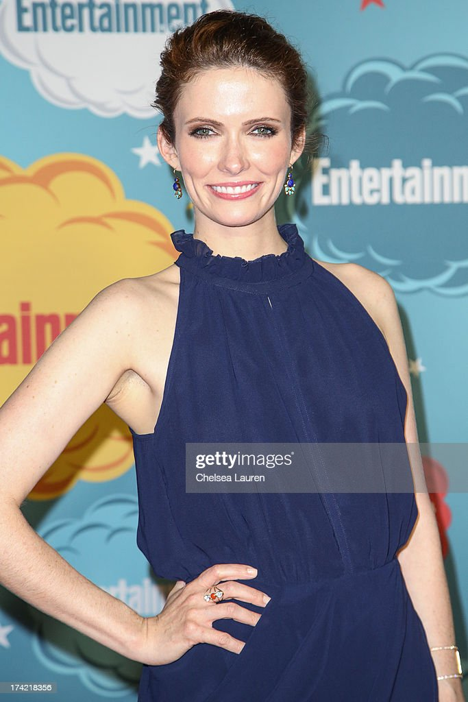Actress <a gi-track='captionPersonalityLinkClicked' href=/galleries/search?phrase=Bitsie+Tulloch&family=editorial&specificpeople=4616199 ng-click='$event.stopPropagation()'>Bitsie Tulloch</a> arrives at Entertainment Weekly's annual Comic-Con celebration at Float at Hard Rock Hotel San Diego on July 20, 2013 in San Diego, California.