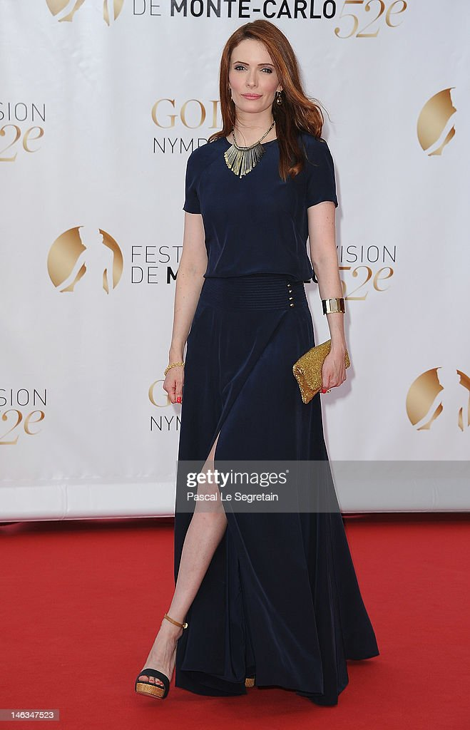 Actress Bitsie Tulloch arrives at the Closing Ceremony of the 52nd Monte Carlo TV Festival on June 14, 2012 in Monte-Carlo, Monaco.