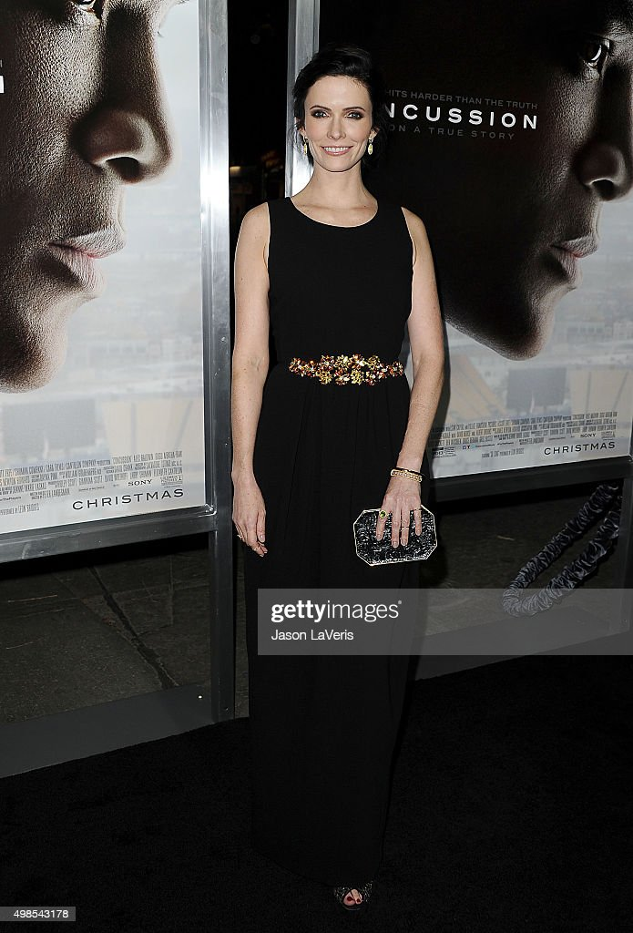 Actress <a gi-track='captionPersonalityLinkClicked' href=/galleries/search?phrase=Bitsie+Tulloch&family=editorial&specificpeople=4616199 ng-click='$event.stopPropagation()'>Bitsie Tulloch</a> attends a screening of 'Concussion' at Regency Village Theatre on November 23, 2015 in Westwood, California.
