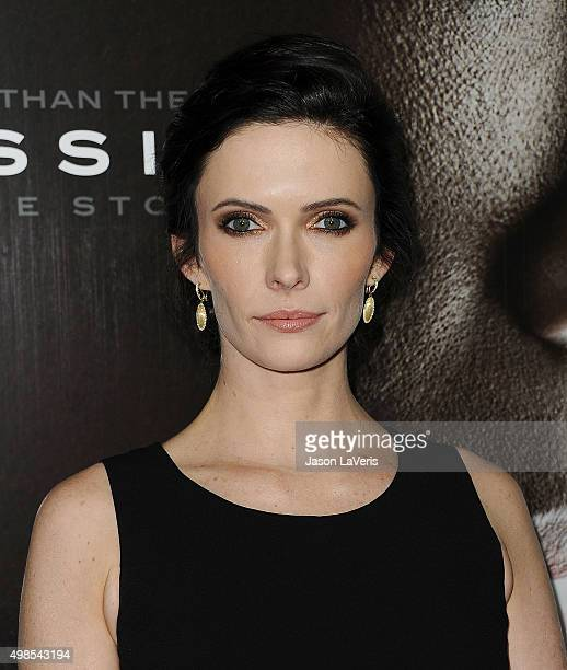 Actress Bitsie Tulloch attends a screening of 'Concussion' at Regency Village Theatre on November 23 2015 in Westwood California