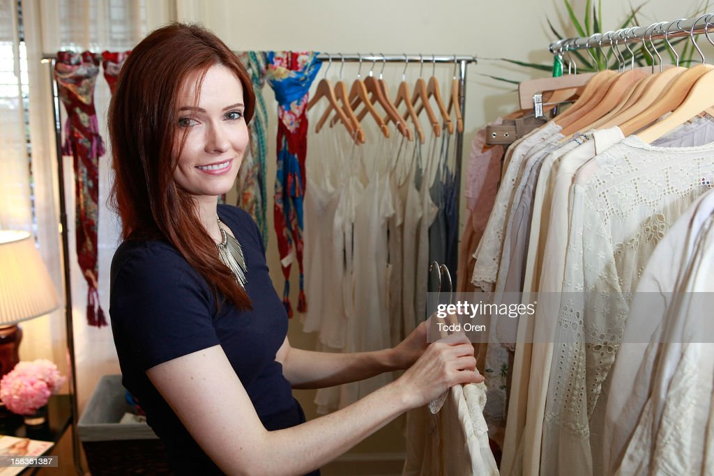 Actress Bitsie Tulloch shops at the Johnny Was Holiday Gifting Suite at Chateau Marmont on December 13, 2012 in Los Angeles, California.