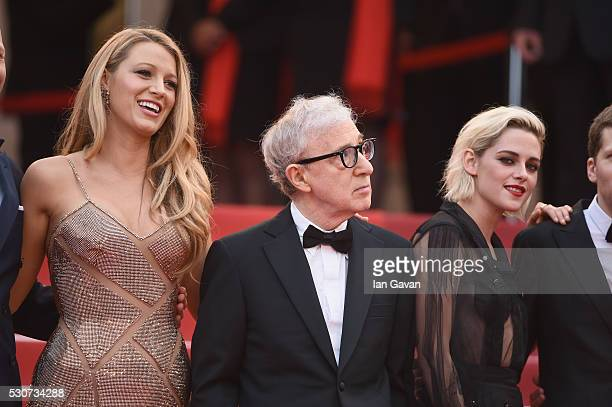 Actress Blake Lively actor/director Woody Allen and actress Kristen Stewart attend the 'Cafe Society' premiere and the Opening Night Gala during the...