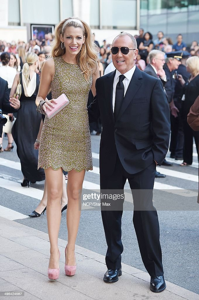 Actress <a gi-track='captionPersonalityLinkClicked' href=/galleries/search?phrase=Blake+Lively&family=editorial&specificpeople=221673 ng-click='$event.stopPropagation()'>Blake Lively</a> and <a gi-track='captionPersonalityLinkClicked' href=/galleries/search?phrase=Michael+Kors+-+Fashion+Designer&family=editorial&specificpeople=4289231 ng-click='$event.stopPropagation()'>Michael Kors</a> are seen arriving at The 2014 CFDA Fashion Awards on June 2, 2014 in New York City.