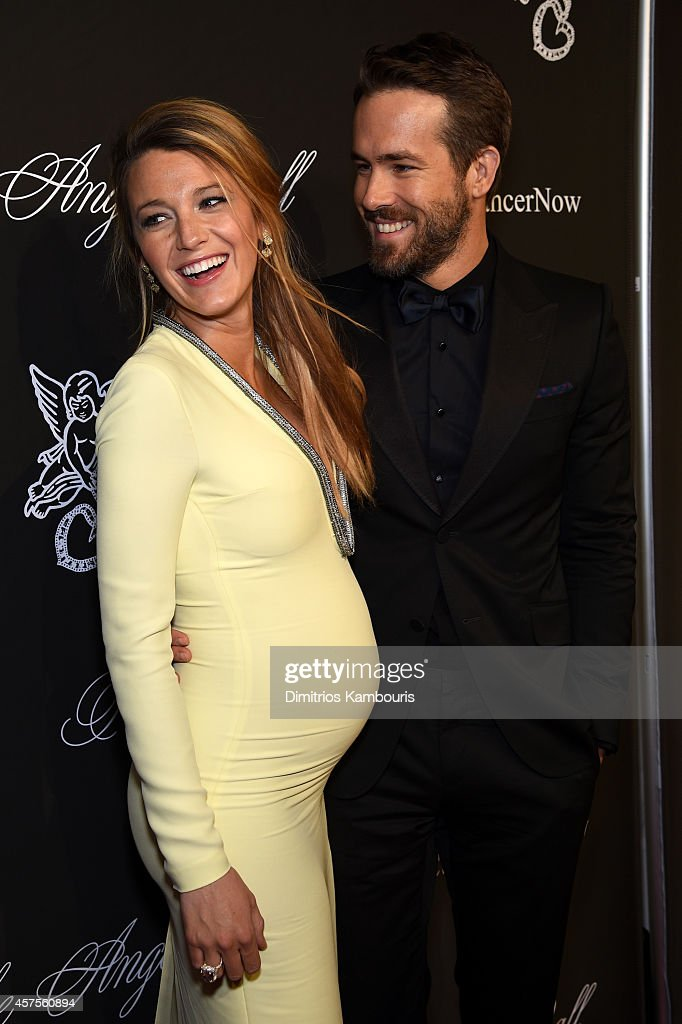 Actress Blake Lively and Ryan Reynolds attend Angel Ball 2014 hosted by Gabrielle's Angel Foundation at Cipriani Wall Street on October 20 2014 in...