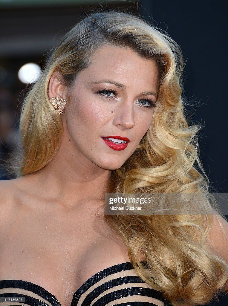 Actress Blake Lively arrives at the premiere of Universal Pictures' 'Savages' at Westwood Village on June 25, 2012 in Los Angeles, California.