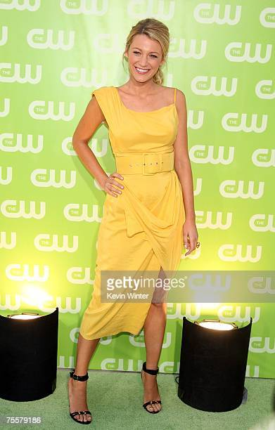 Actress Blake Lively arrives to the CW Television Critics Association Press Tour party at the Fountain Plaza at the Pacific Design Center on July 20...