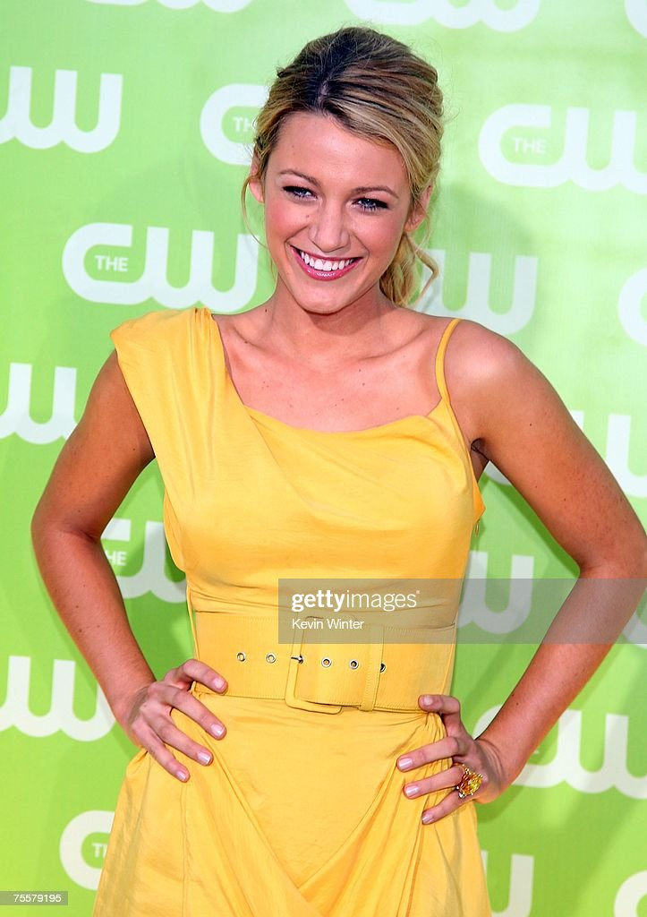 Actress <a gi-track='captionPersonalityLinkClicked' href=/galleries/search?phrase=Blake+Lively&family=editorial&specificpeople=221673 ng-click='$event.stopPropagation()'>Blake Lively</a> arrives to the CW Television Critics Association Press Tour party at the Fountain Plaza at the Pacific Design Center on July 20, 2007 in West Hollywood, California.