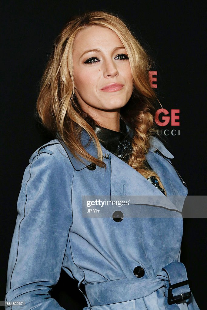 Actress <a gi-track='captionPersonalityLinkClicked' href=/galleries/search?phrase=Blake+Lively&family=editorial&specificpeople=221673 ng-click='$event.stopPropagation()'>Blake Lively</a> attends a celebration for the new Gucci campaign, 'Chime For Change' at Macy's Herald Square on May 6, 2014 in New York City.
