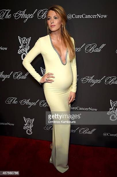 Actress Blake Lively attends Angel Ball 2014 hosted by Gabrielle's Angel Foundation at Cipriani Wall Street on October 20 2014 in New York City