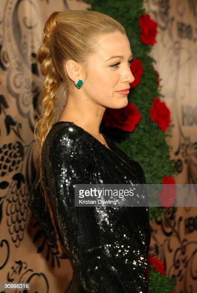 Actress Blake Lively attends HBO's post Emmy Awards reception at the Pacific Design Center on September 20 2009 in West Hollywood California