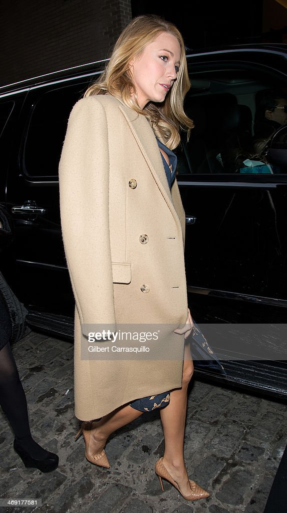 Actress <a gi-track='captionPersonalityLinkClicked' href=/galleries/search?phrase=Blake+Lively&family=editorial&specificpeople=221673 ng-click='$event.stopPropagation()'>Blake Lively</a> attends Michael Kors fashion show during Fall 2014 Mercedes - Benz Fashion Week on February 12, 2014 in New York City.