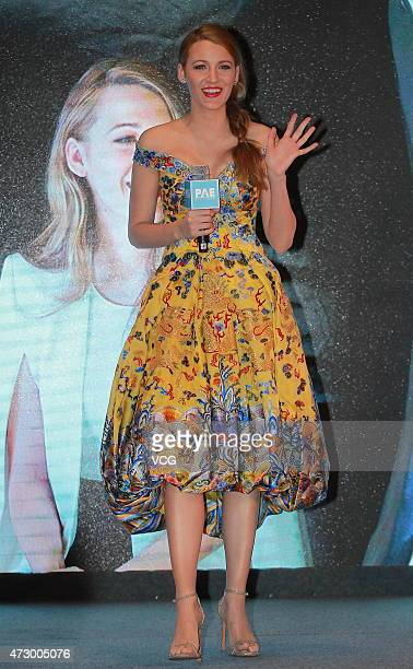 Actress Blake Lively attends press conference of movie 'Log Out' on May 11 2015 in Beijing China