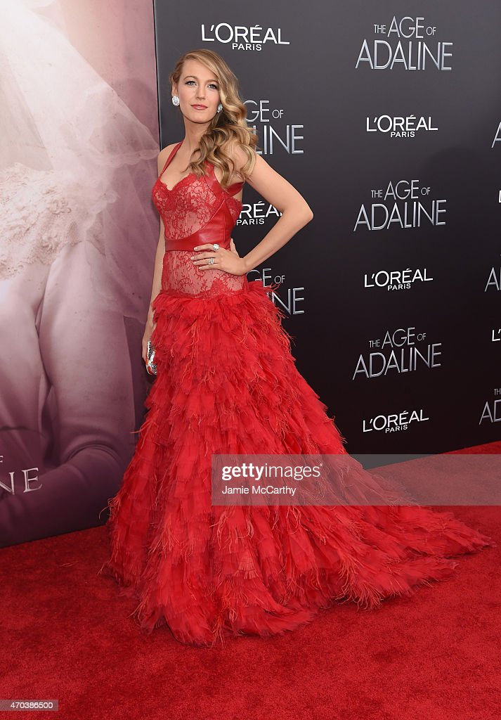 Actress Blake Lively attends 'The Age of Adaline' premiere at AMC Loews Lincoln Square 13 theater on April 19 2015 in New York City