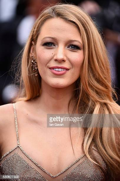 Actress Blake Lively attends the 'Cafe Society' premiere and the Opening Night Gala during the 69th annual Cannes Film Festival at the Palais des...