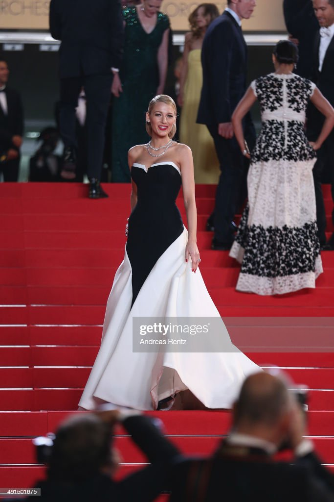 Actress <a gi-track='captionPersonalityLinkClicked' href=/galleries/search?phrase=Blake+Lively&family=editorial&specificpeople=221673 ng-click='$event.stopPropagation()'>Blake Lively</a> attends the 'Captives' premiere during the 67th Annual Cannes Film Festival on May 16, 2014 in Cannes, France.