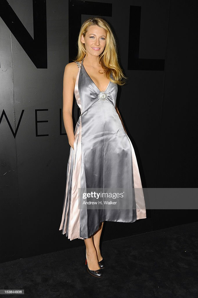 Actress Blake Lively attends the celebration of CHANEL FINE JEWELRY'S 80th anniversary of the 'Bijoux De Diamants' collection created by Gabrielle Chanel on October 9, 2012 in New York City.