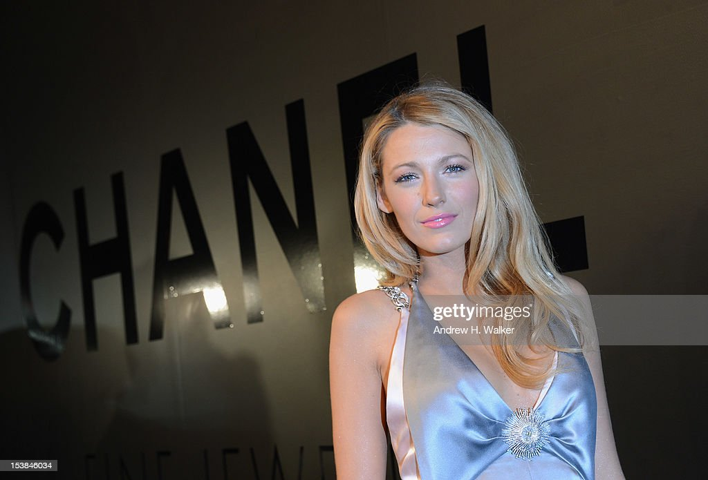 Actress <a gi-track='captionPersonalityLinkClicked' href=/galleries/search?phrase=Blake+Lively&family=editorial&specificpeople=221673 ng-click='$event.stopPropagation()'>Blake Lively</a> attends the celebration of CHANEL FINE JEWELRY'S 80th anniversary of the 'Bijoux De Diamants' collection created by Gabrielle Chanel on October 9, 2012 in New York City.