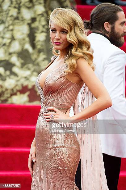 Actress Blake Lively attends the 'Charles James Beyond Fashion' Costume Institute Gala at the Metropolitan Museum of Art on May 5 2014 in New York...