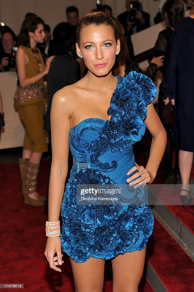 Actress Blake Lively attends the Costume Institute Gala Benefit to celebrate the opening of the 'American Woman: Fashioning a National Identity' exhibition at The Metropolitan Museum of Art on May 3, 2010 in New York City.