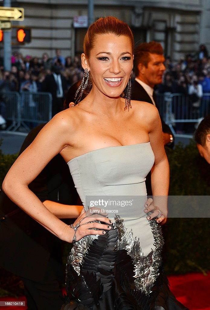 Actress Blake Lively attends the Costume Institute Gala for the 'PUNK: Chaos to Couture' exhibition at the Metropolitan Museum of Art on May 6, 2013 in New York City.