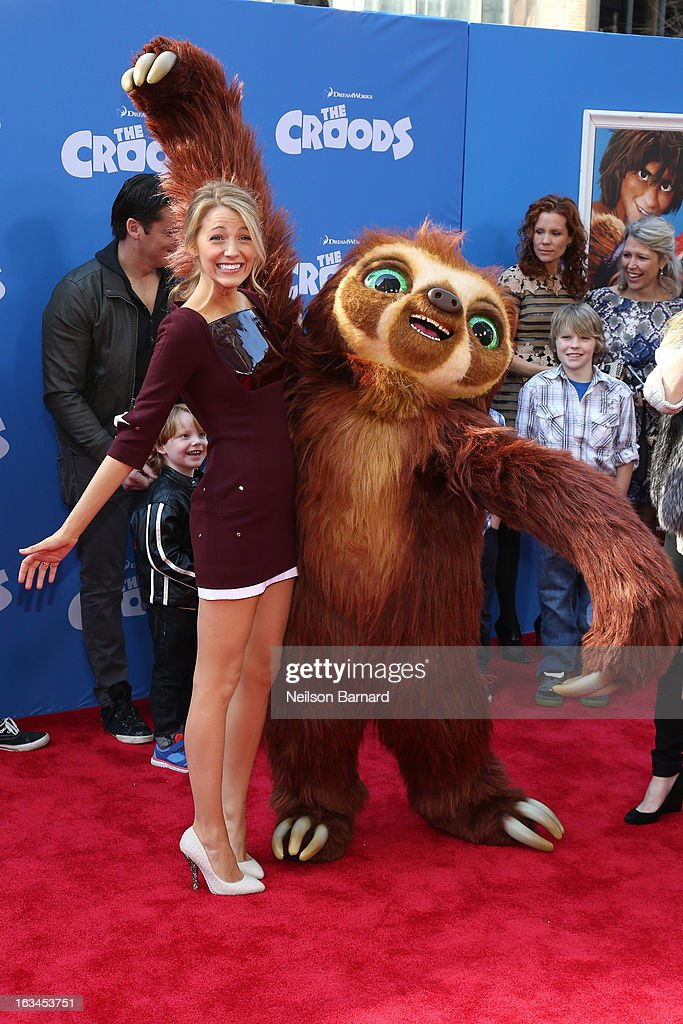 Actress Blake Lively attends 'The Croods' premiere at AMC Loews Lincoln Square 13 theater on March 10, 2013 in New York City.