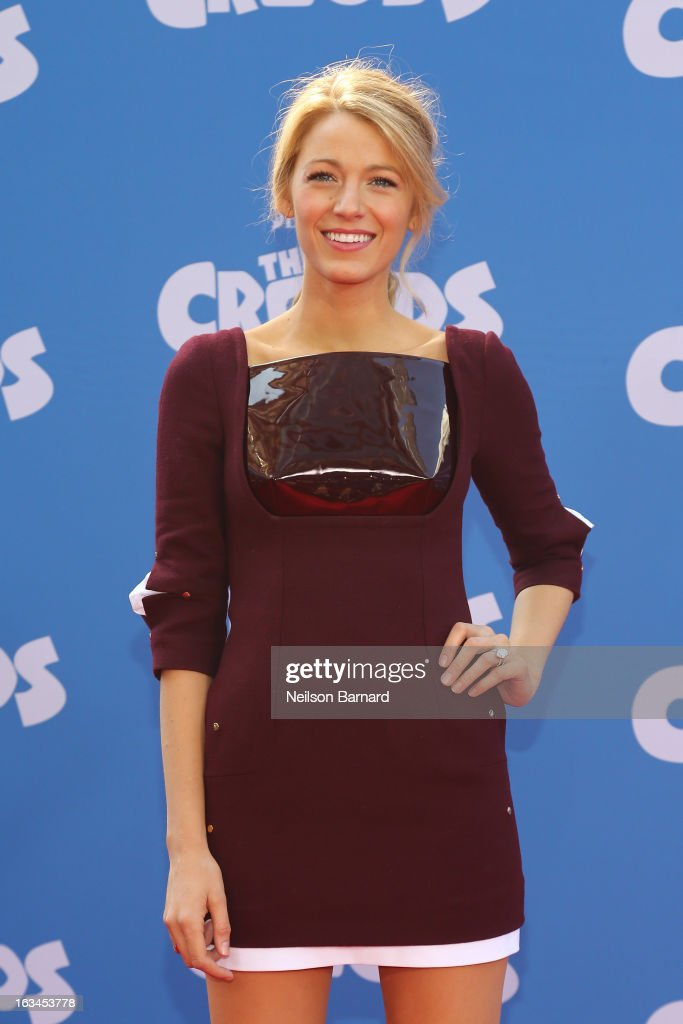 Actress Blake Lively attends 'The Croods' premiere at AMC Loews Lincoln Square 13 theater on March 10 2013 in New York City
