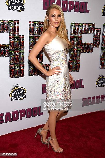 Actress Blake Lively attends the 'Deadpool' fan event at AMC Empire Theatre on February 8 2016 in New York City