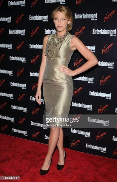 Actress Blake Lively attends the Entertainment Weekly Vavoom Annual U'pfront Party at the Bowery Hotel on May 13 2008 in New York City