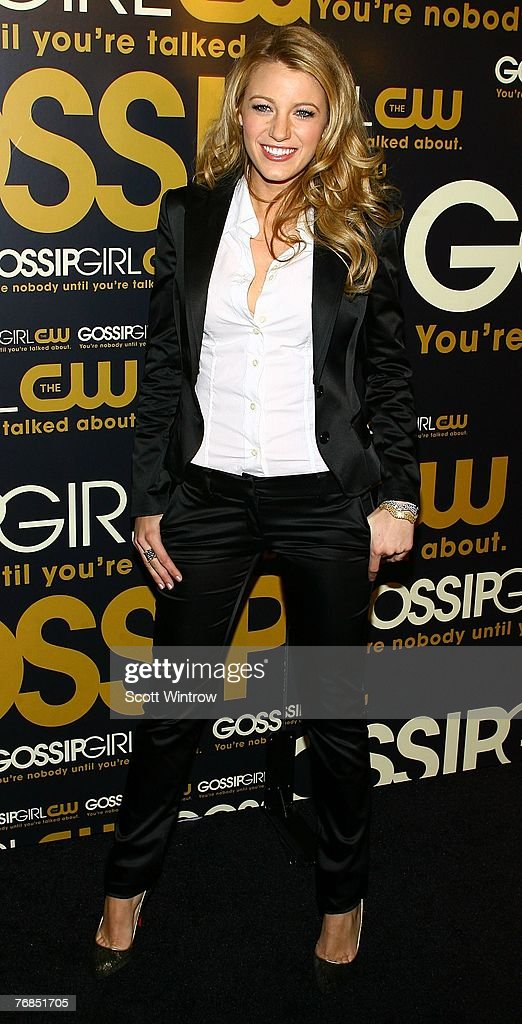 Actress Blake Lively attends the launch party for CW Network's 'Gossip Girls' at Tenjune on September 18 2007 in New York City