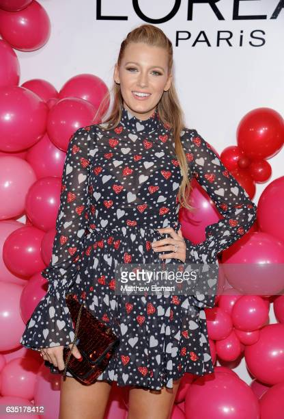 Actress Blake Lively attends the L'Oreal Paris Paints Colorista launch event at West Edge on February 13 2017 in New York City