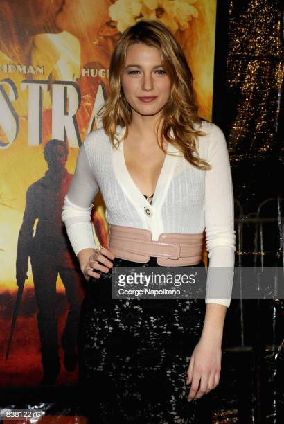 Actress Blake Lively attends the New York premiere of 'Australia' at Ziegfeld Theater on November 24 2008 in New York City