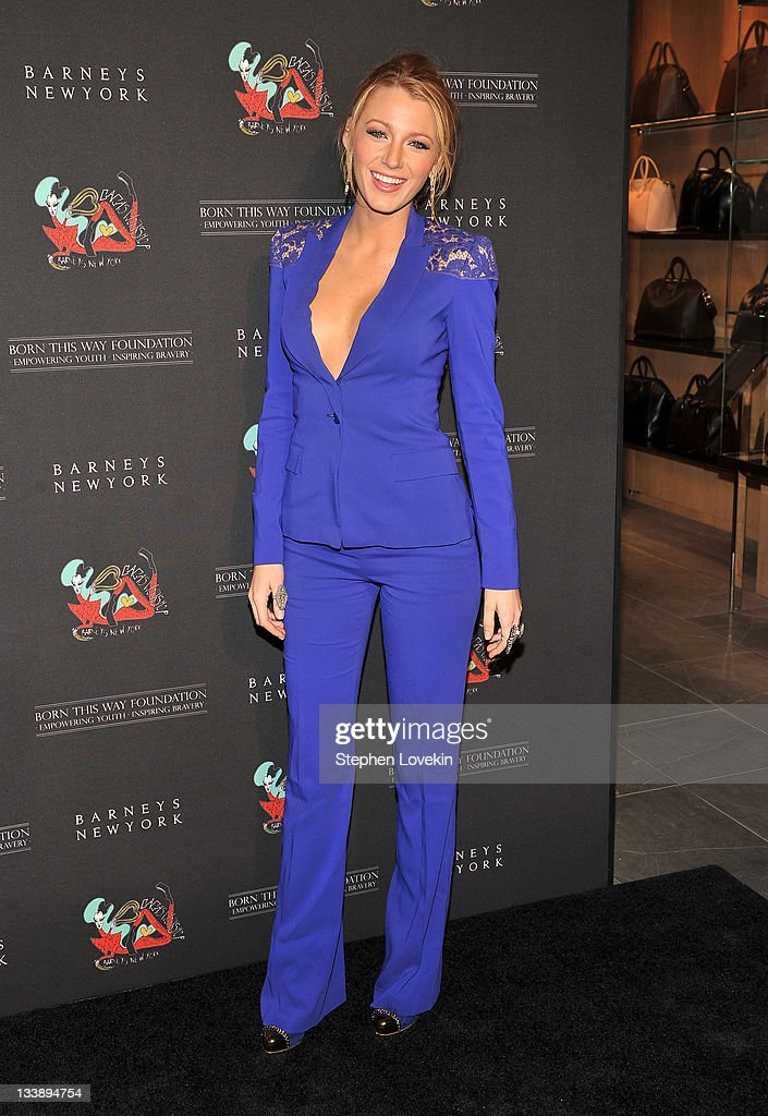 Actress Blake Lively attends the opening of Gaga's Workshop at Barneys New York on November 21 2011 in New York City