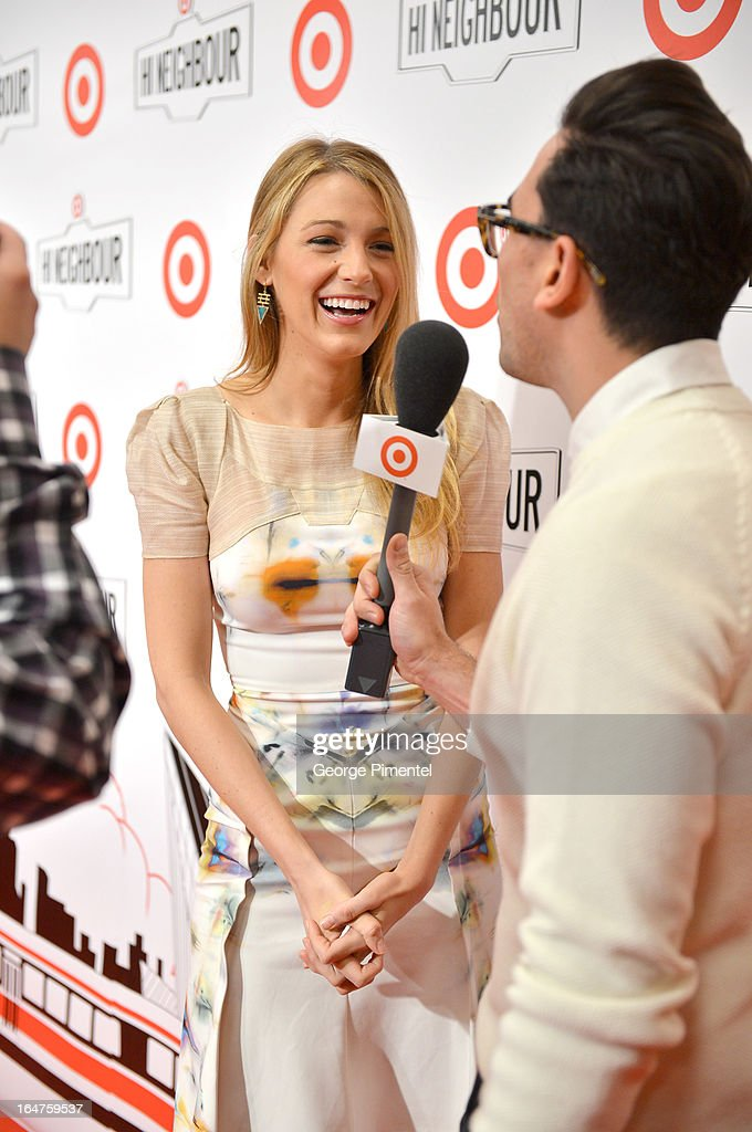 Actress Blake Lively attends the opening of Target at Shoppers World Danforth on March 27, 2013 in Toronto, Canada.