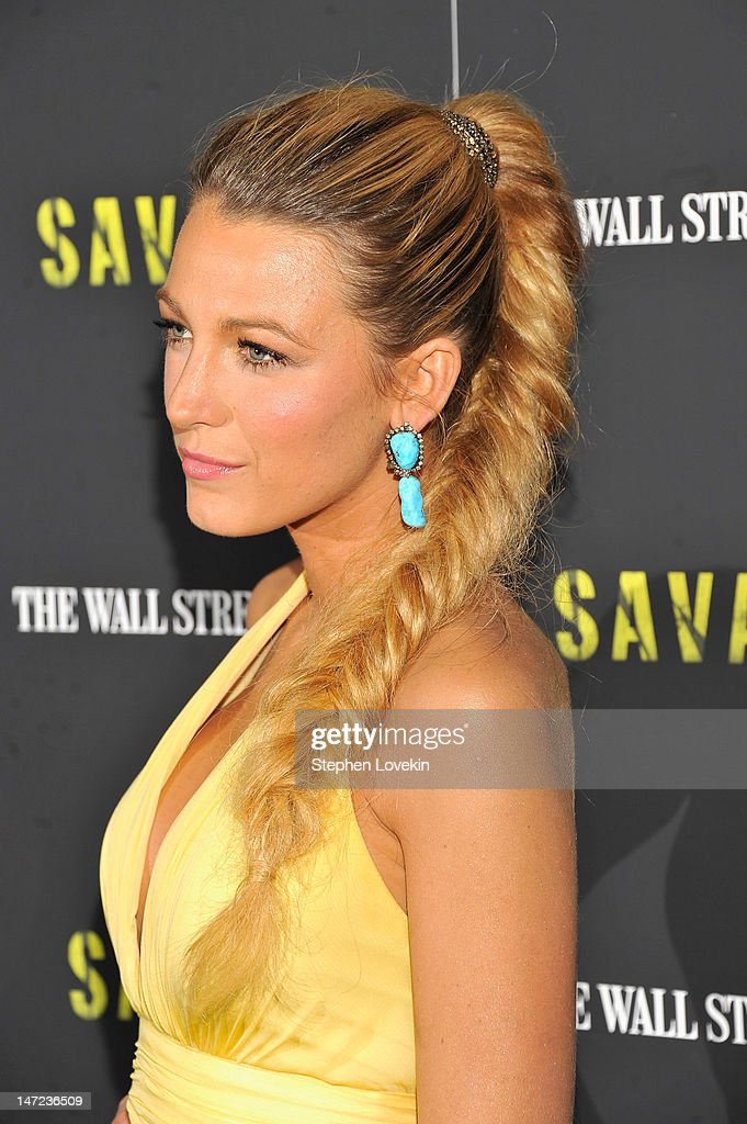 Actress Blake Lively attends the 'Savages' New York premiere at SVA Theater on June 27 2012 in New York City