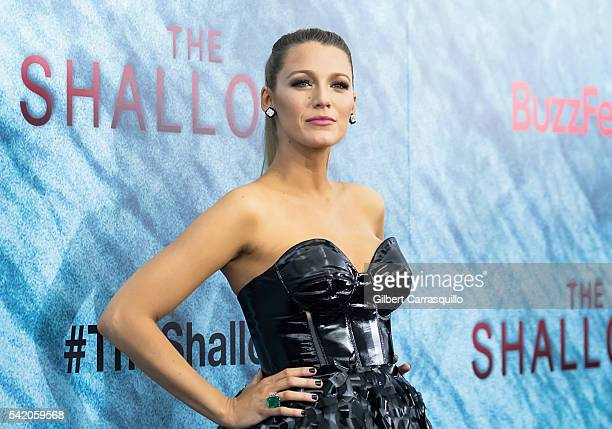 Actress Blake Lively attends 'The Shallows' World Premiere at AMC Loews Lincoln Square on June 21 2016 in New York City