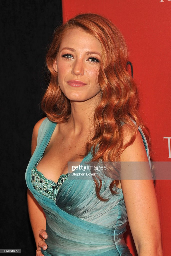 Actress <a gi-track='captionPersonalityLinkClicked' href=/galleries/search?phrase=Blake+Lively&family=editorial&specificpeople=221673 ng-click='$event.stopPropagation()'>Blake Lively</a> attends the TIME 100 Gala, TIME'S 100 Most Influential People In The World at Frederick P. Rose Hall, Jazz at Lincoln Center on April 26, 2011 in New York City.